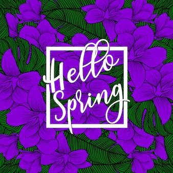 Hola banner de primavera.