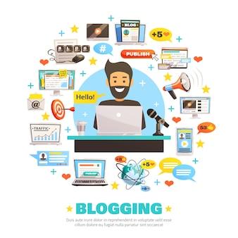 Hola blogger composición redonda