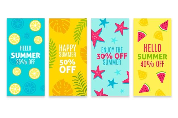 Hola colección de cuentos de instagram de rebajas de verano