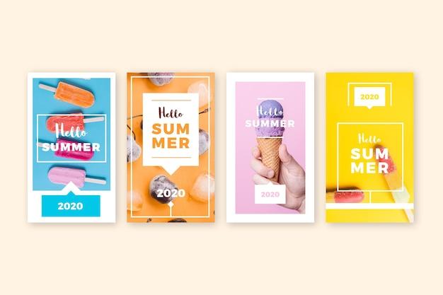 Hola colección de cuentos de instagram de verano