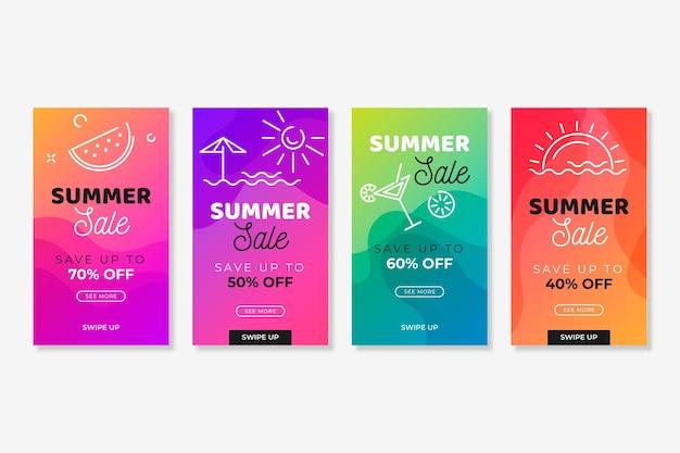 Hola colección de historias de instagram de rebajas de verano
