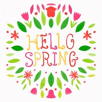 Hola concepto de letras de primavera
