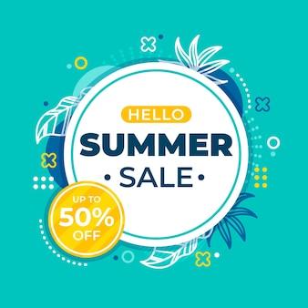 Hola concepto de venta de verano