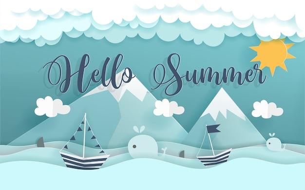 Hola concepto de verano