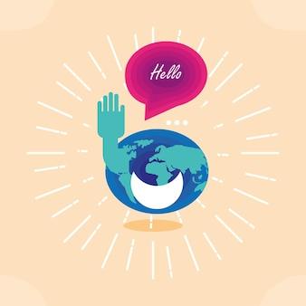 Hola día mundial
