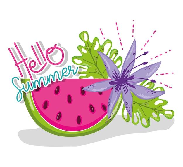 Hola dibujos animados de verano