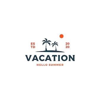 Hola diseño de logotipo de vacaciones de verano