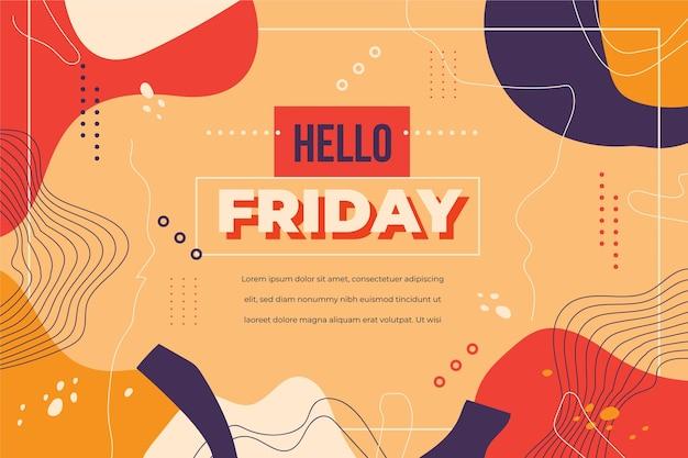 Hola diseño de plantilla de viernes