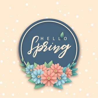 Hola flor de primavera