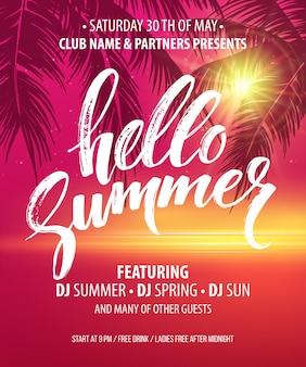Hola folleto de fiesta de verano