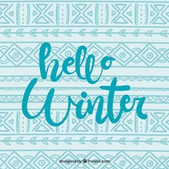 Hola fondo de invierno en estilo tejido