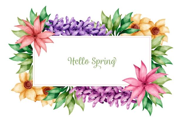 Hola fondo de pantalla de primavera con flores de colores