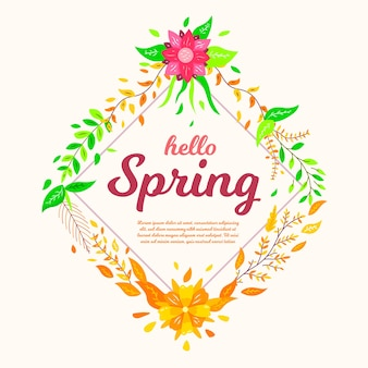 Hola fondo de pantalla de primavera con flores
