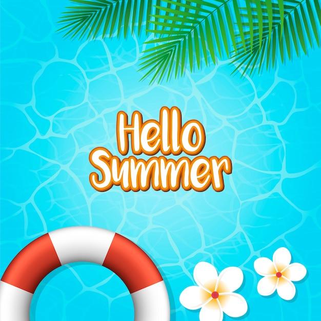 Hola fondo de vacaciones de verano