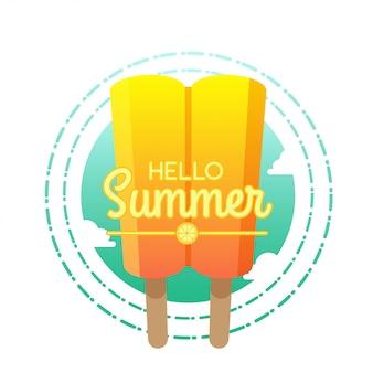 Hola ilustración de verano