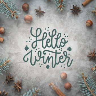 Hola letras de invierno