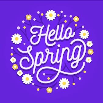 Hola letras de primavera