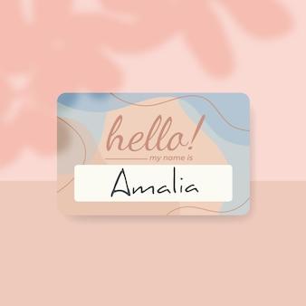 Hola (mi nombre es) etiqueta