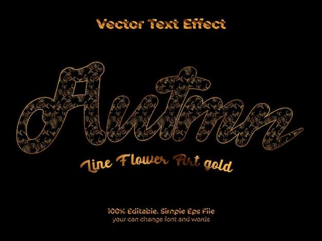 Hola otoño efecto de texto editable