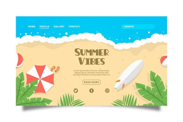 Hola página de aterrizaje de verano
