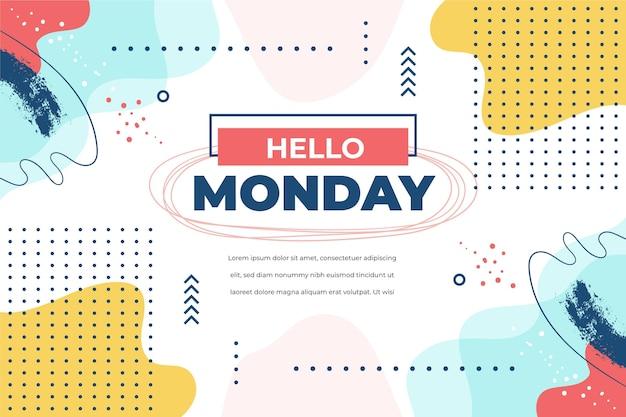 Hola plantilla de lunes con puntos