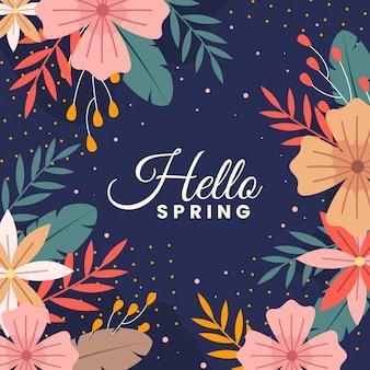 Hola primavera colorida