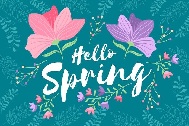 Hola primavera con flores