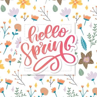 Hola primavera flores