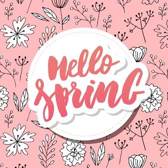 Hola primavera venta fondo con hermosa flor