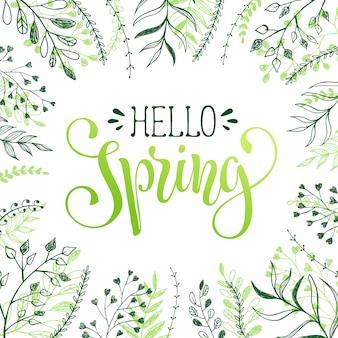 Hola saludo de primavera