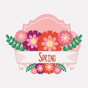 Hola tarjeta de primavera