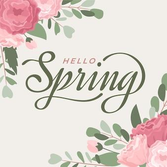 Hola tipografía de primavera