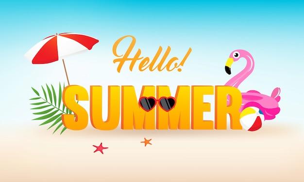 ¡hola! vector de verano