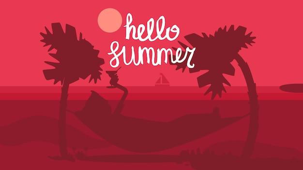 Hola verano concepto