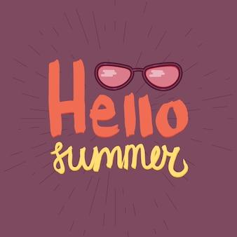 Hola verano letras con pincel