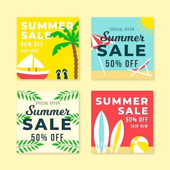 Hola verano venta instagram post collection