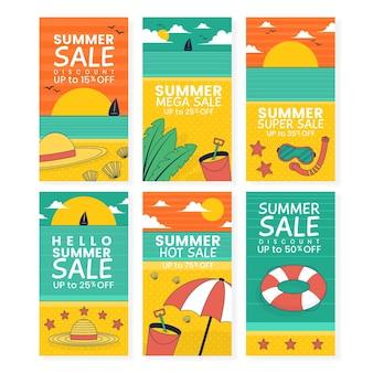 Hola verano venta instagram story set