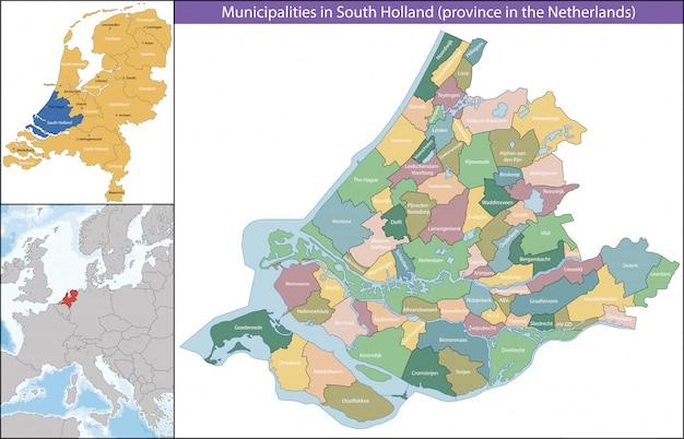 Holanda meridional es una provincia de los países bajos