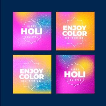Holi festival instagram post pack