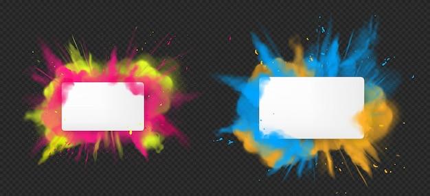 Holi pintura en polvo explosión de color realista