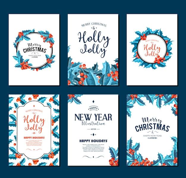 Holly jolly - conjunto de banners de navidad.