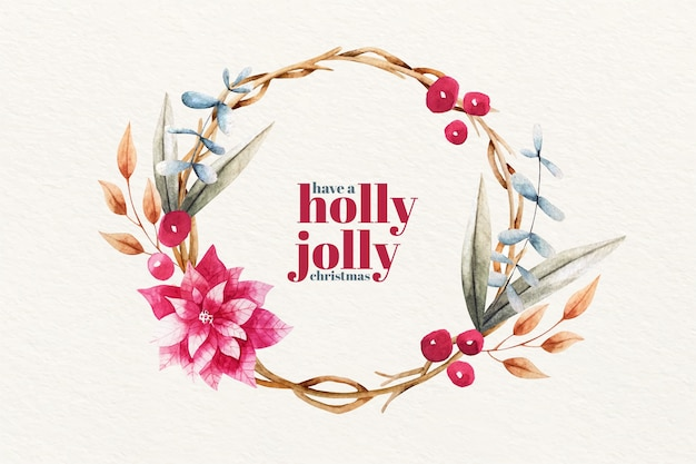 Holly jolly fondo de navidad