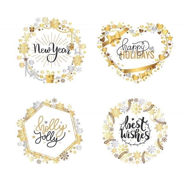 Holly jolly quote feliz navidad año nuevo vacaciones