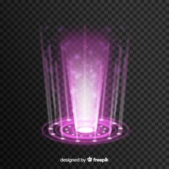 Holograma realista de un portal