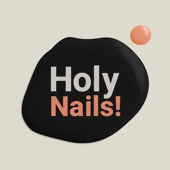 Holy nails business logo vector estilo de pintura de color creativo