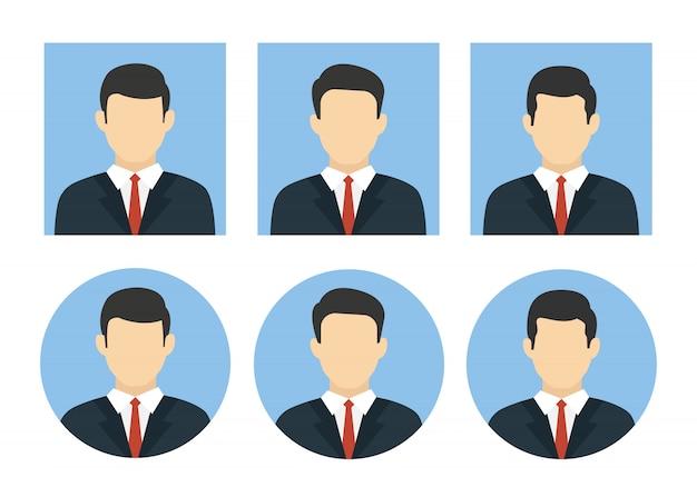Hombre de avatares de negocios en diseño plano