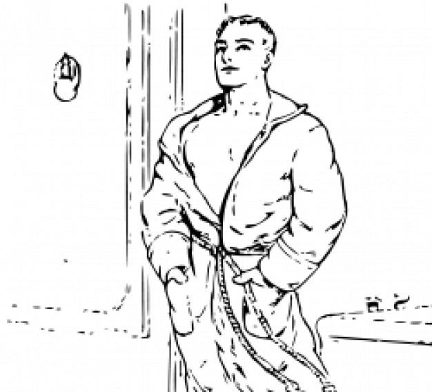 Hombre en bata