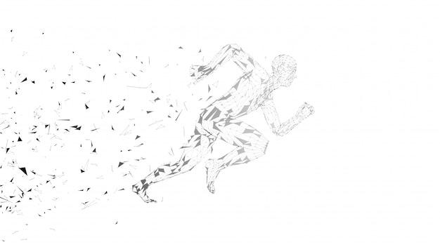 Hombre corriente abstracto conceptual