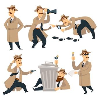 Hombre detective en investigación