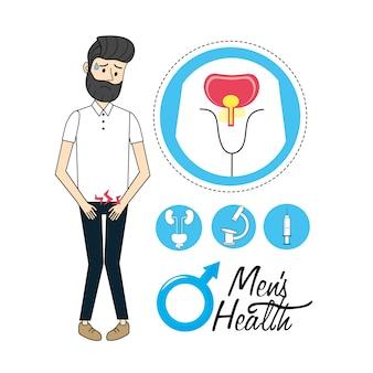 Hombre con diagnóstico de infección del sistema urinario.